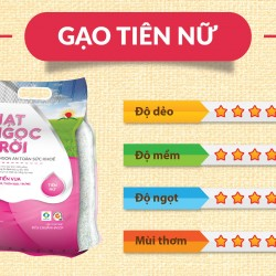 Gạo Hạt Ngọc Trời Tiên Nữ - 5 kg - Lộc Trời